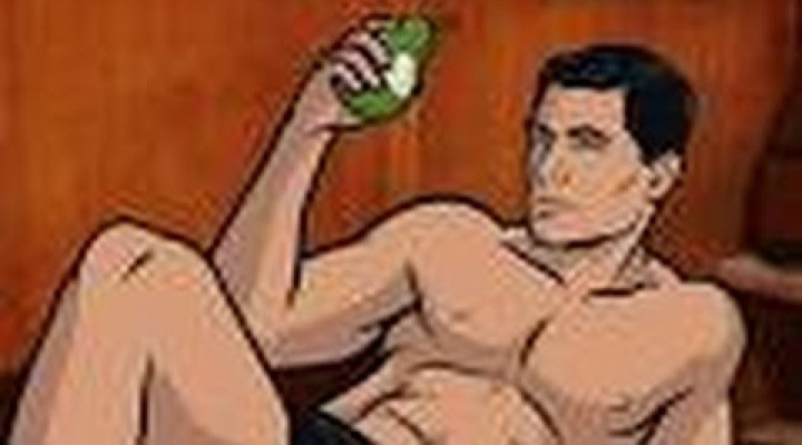***Cartoon Archer **on James Bond pictures! Archer Cartoon Stoc Images